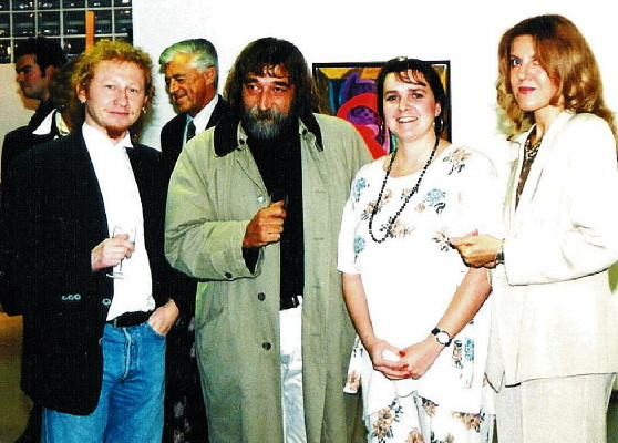 Olga Butinar, YH and Lojze Logar, Vlado (from right to left)
