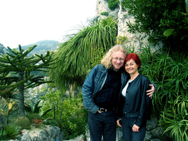 Vlado and Rajka in the Exotic Garden of Eze-Village