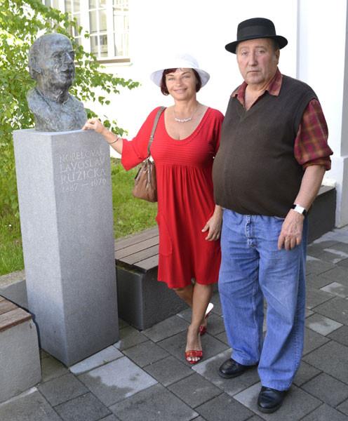 Rajka Poljak Franjević sa profesorom Zdravkom Dvojkovićem