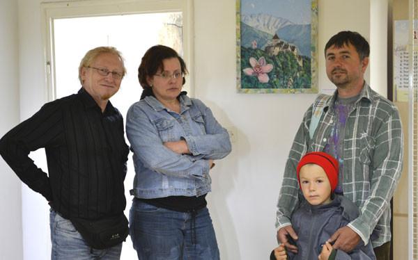 Vlado Franjević, Vinka Jelić-Balta, Franjo sa sinom Gabrijelom
