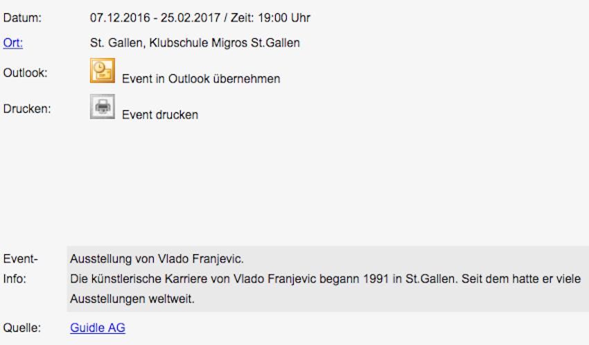 Screenshot: EVENTKALENDER.CH