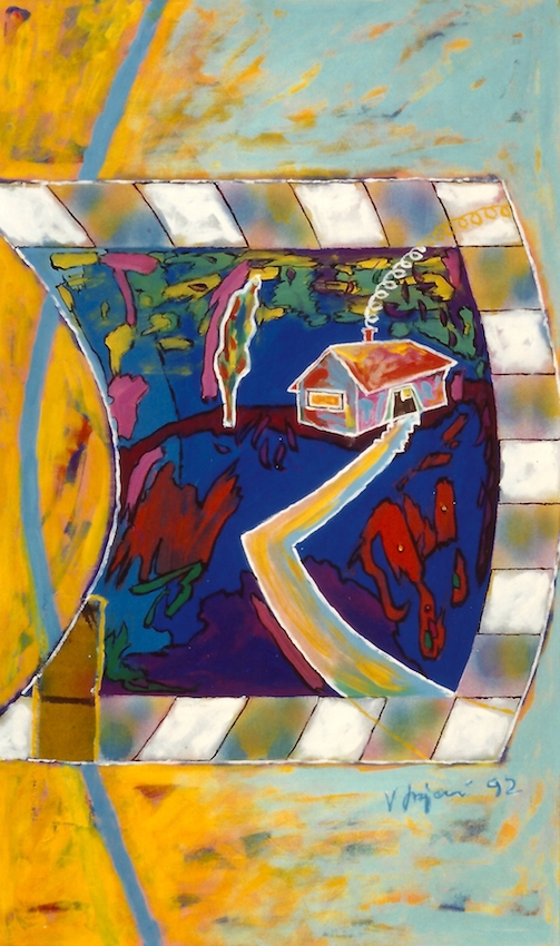 Vlado Franjevic: RÜCKBLICK (45x75, Acryl auf Leinwand) 1992