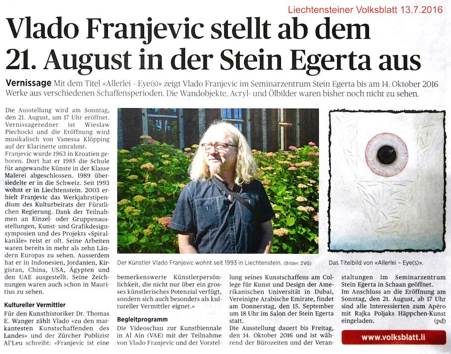 Liechtensteiner Volksblatt 13.7.2016