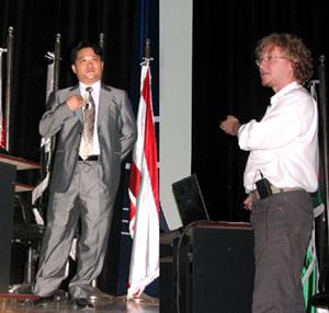 Inyoung Albert Choi und Vlado Franjevic in Amman, Jordanien