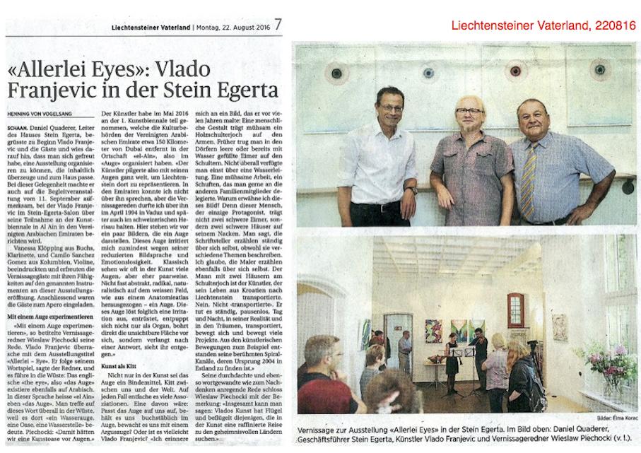 Liechtensteiner Vaterland 22.8.2016