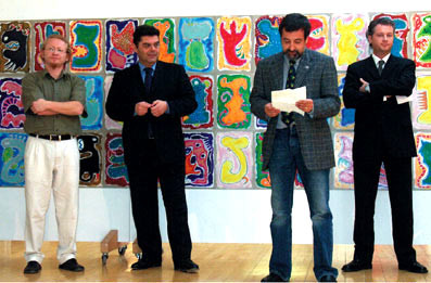 2004, FL-Triesen - Vlado, dr. Mladen Andrlic (Head-Master of Croatian diplomatically Academy of Republic Croatia), Hansjörg Frommelt (memeber of Culture Advisor of the Principality of Liechtenstein), Markus Krüger