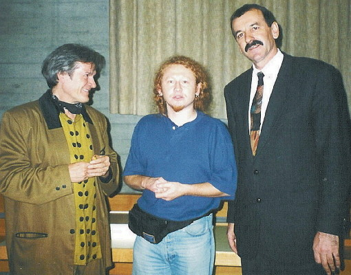 Channsonier Ibrica Jusić (left) and prof.dr. Simun Š. Ćorić (right)