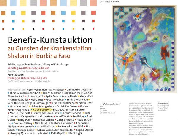 2009 Liechtenstein, Benefiz-Kunstauktion für SHALOM in Burkina Faso