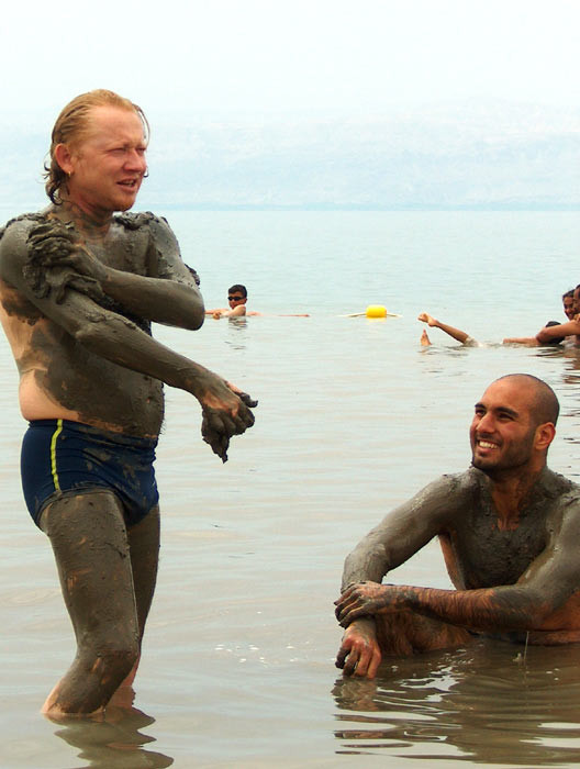 Vlado and Ahmad in Dead Sea