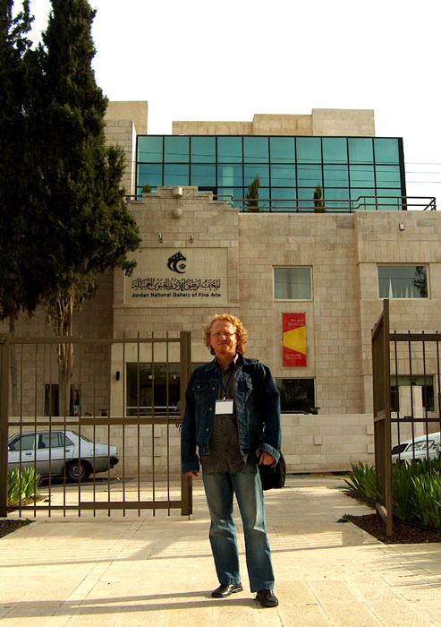 Vlado in front of the National Gallery in Amman