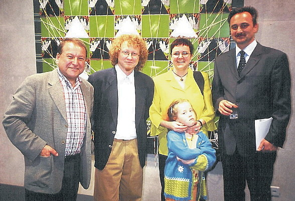 2001 Vaduz - dr. Wieslaw Piechocki (left), Yvonne Heeb with Taina Franjevic, Josip Spoljaric (right)