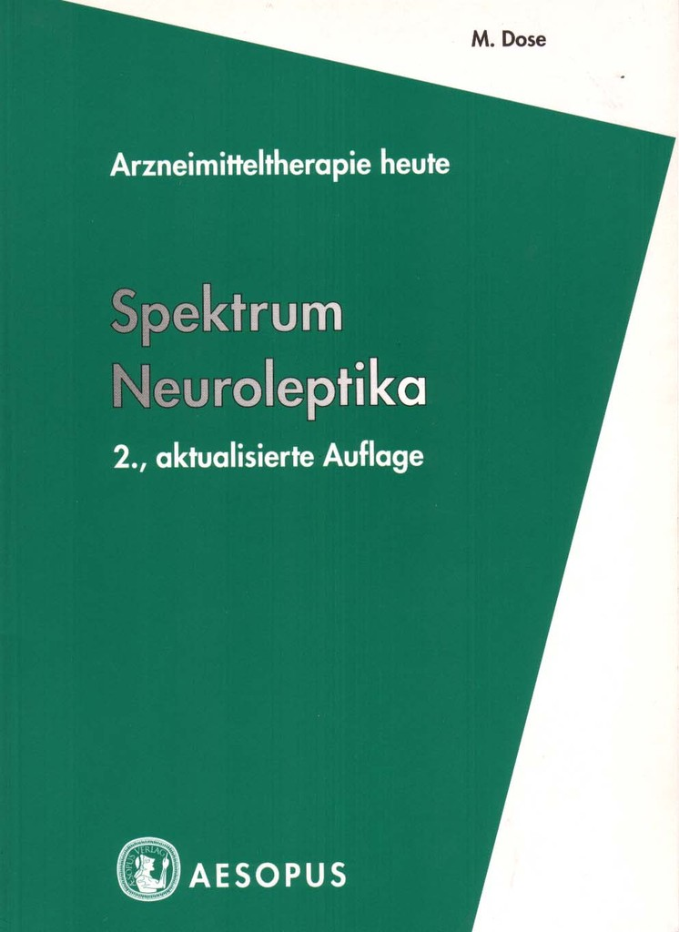 spektrum neuroleptika 2 auflage aesopus verlag. Black Bedroom Furniture Sets. Home Design Ideas