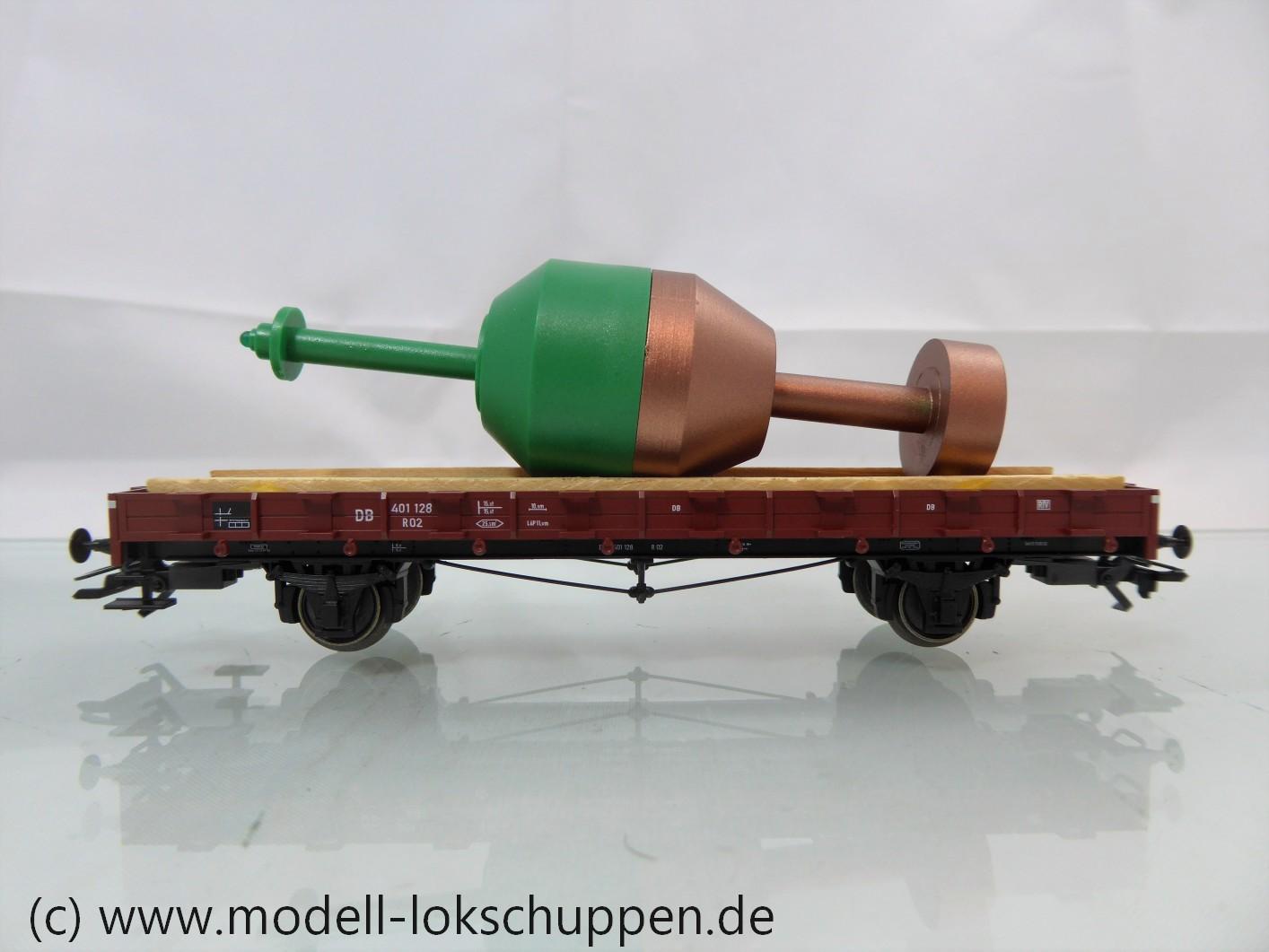 """Trix 24052 Rungenwagen mit grüner Hafenmarkierungstonne der DB """"Tor zur Welt"""""""