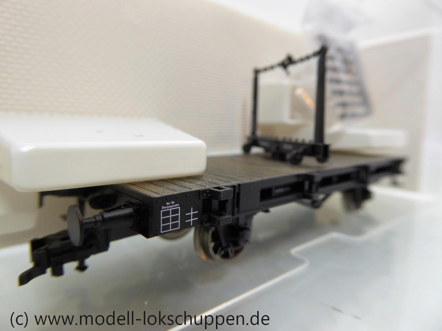 """Fleischmann 855826 Drehschemelwagen, Bauart Hrmz der """"K.P.E.V."""""""