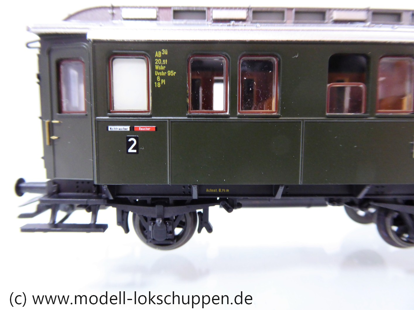 TRIX 23324 DRG II AB3ü Schnellzugwagen 1./2. Klasse (3-achsig)