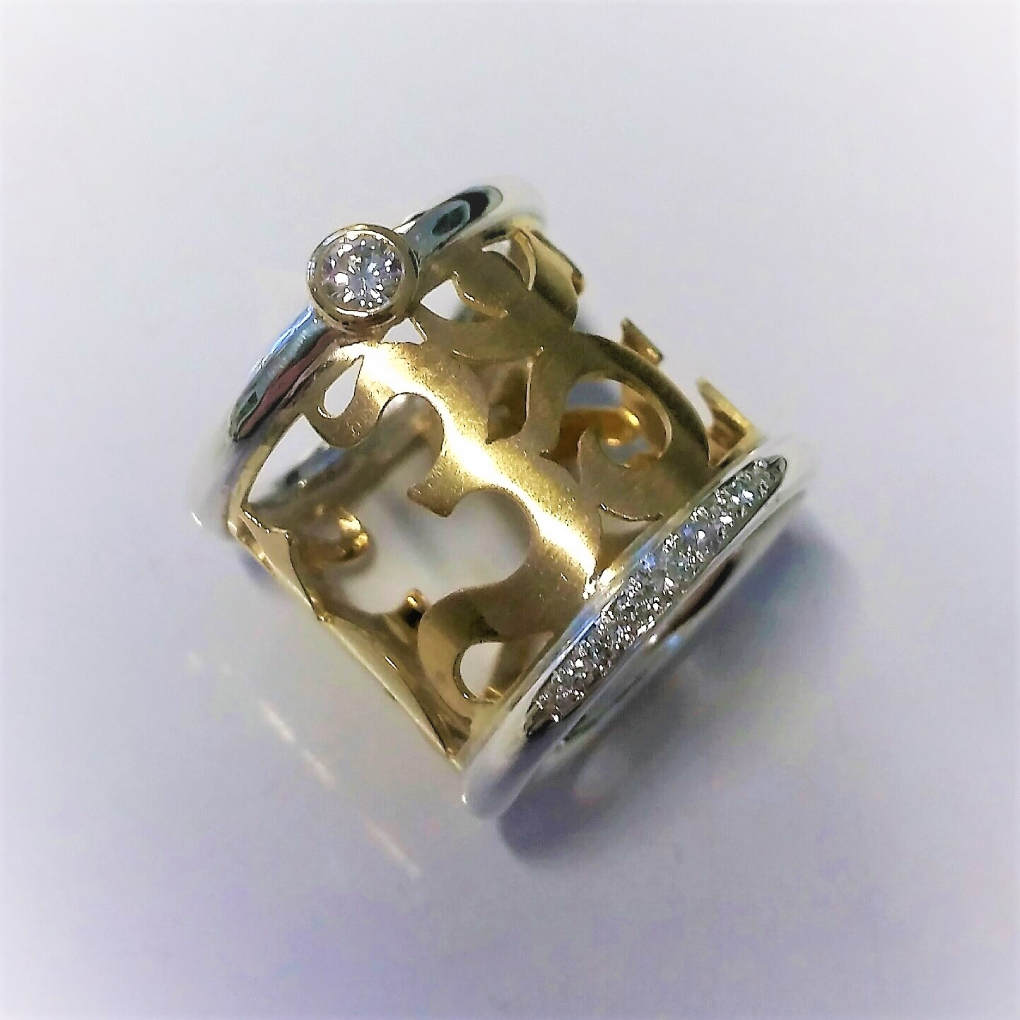 Ring OHM Brillanten Gold 750