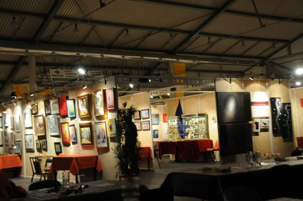 vue d'ensemble de l'exposition hall omnisports