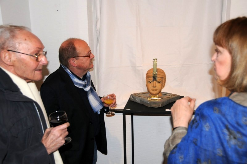 Vernissage , Dominique Petit, sculptrice
