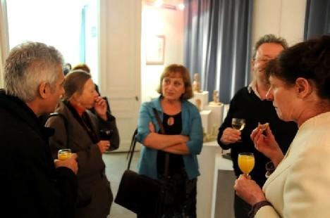 Vernissage exposition avec Marie-Pierre Poncin galerie Trigone,Liège 2009