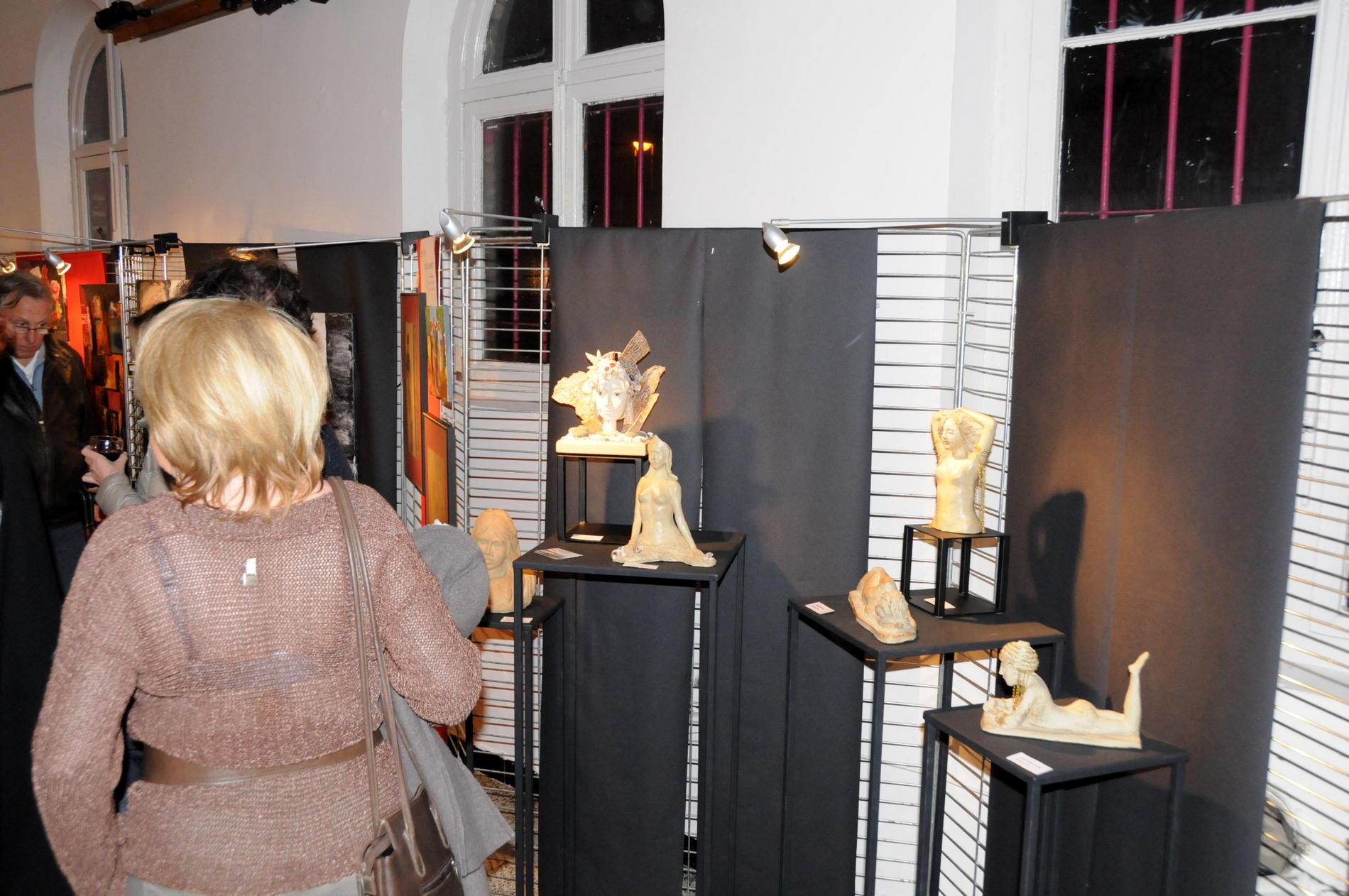 Vernissage , vue d'une partie de mes sculptures