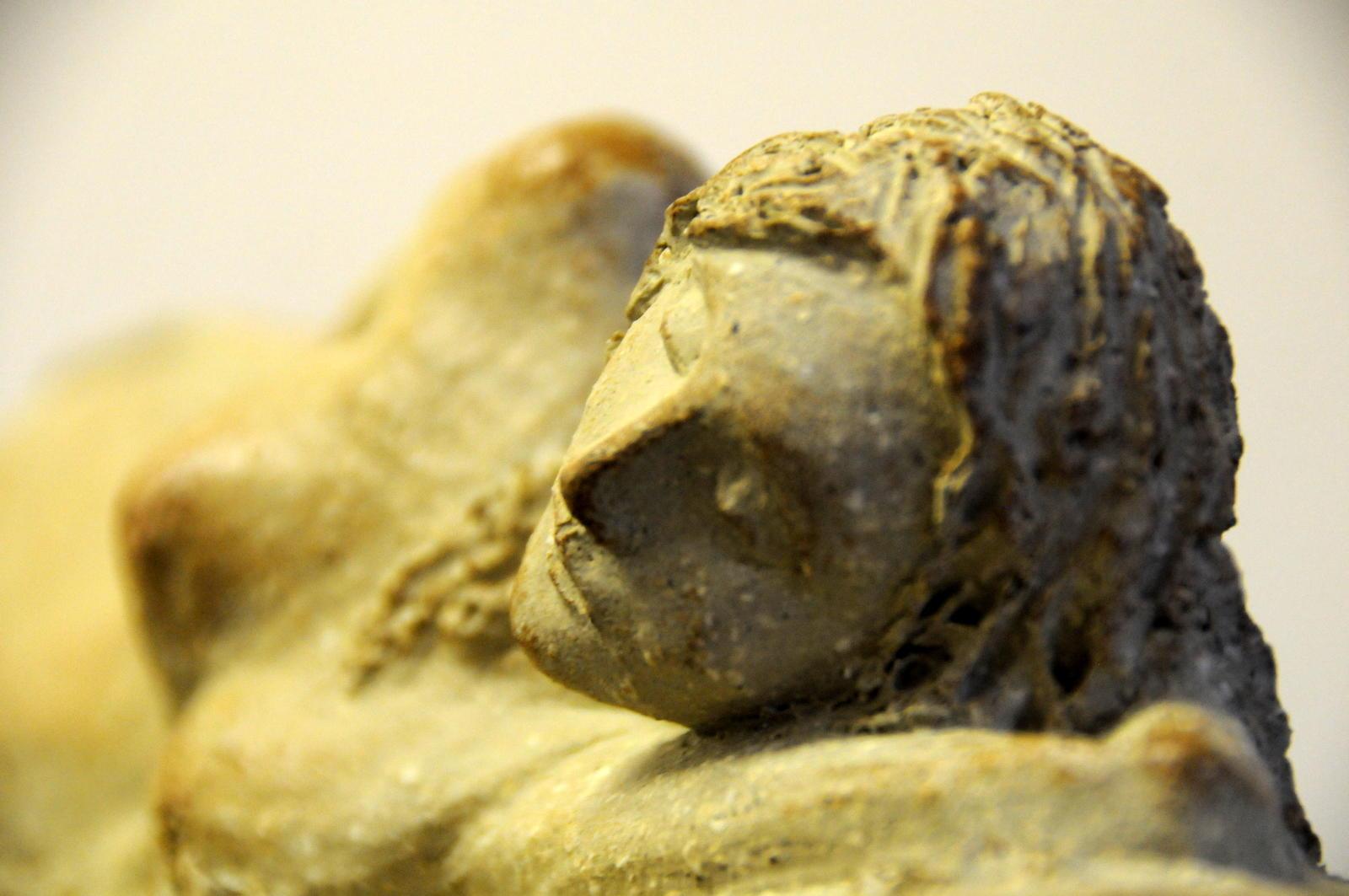 """Détail de ma sculpture """" jeune naïade endormie """""""