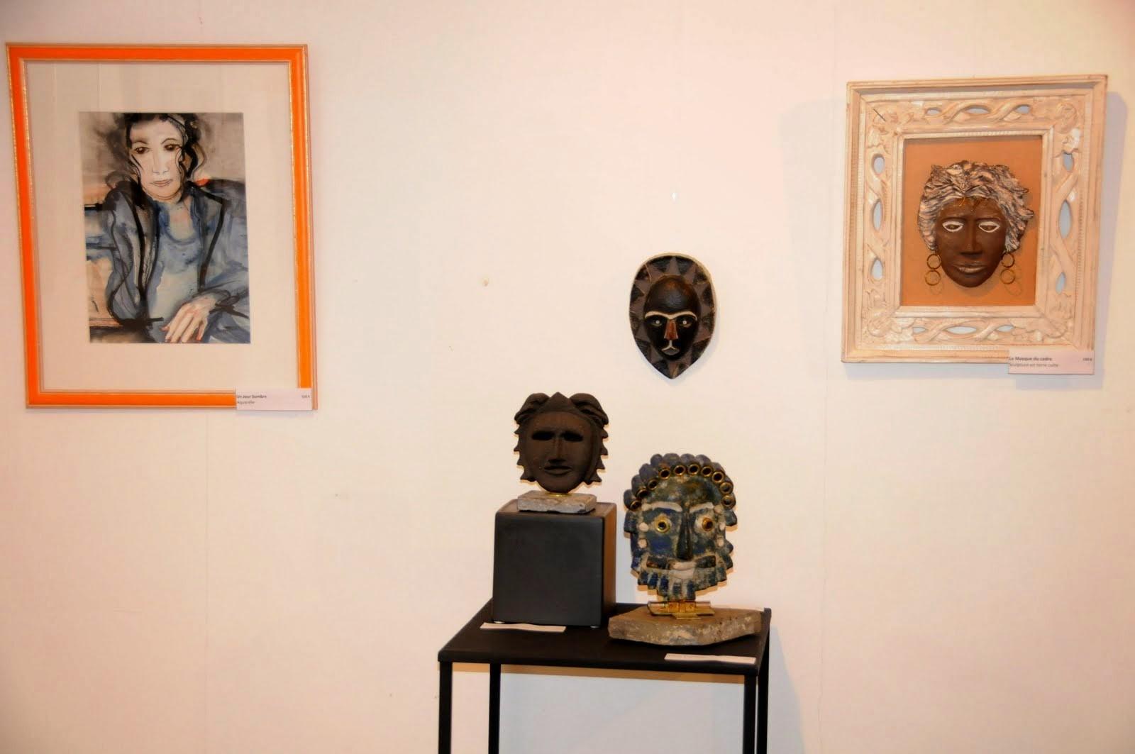 mes sculptures et aquarelles