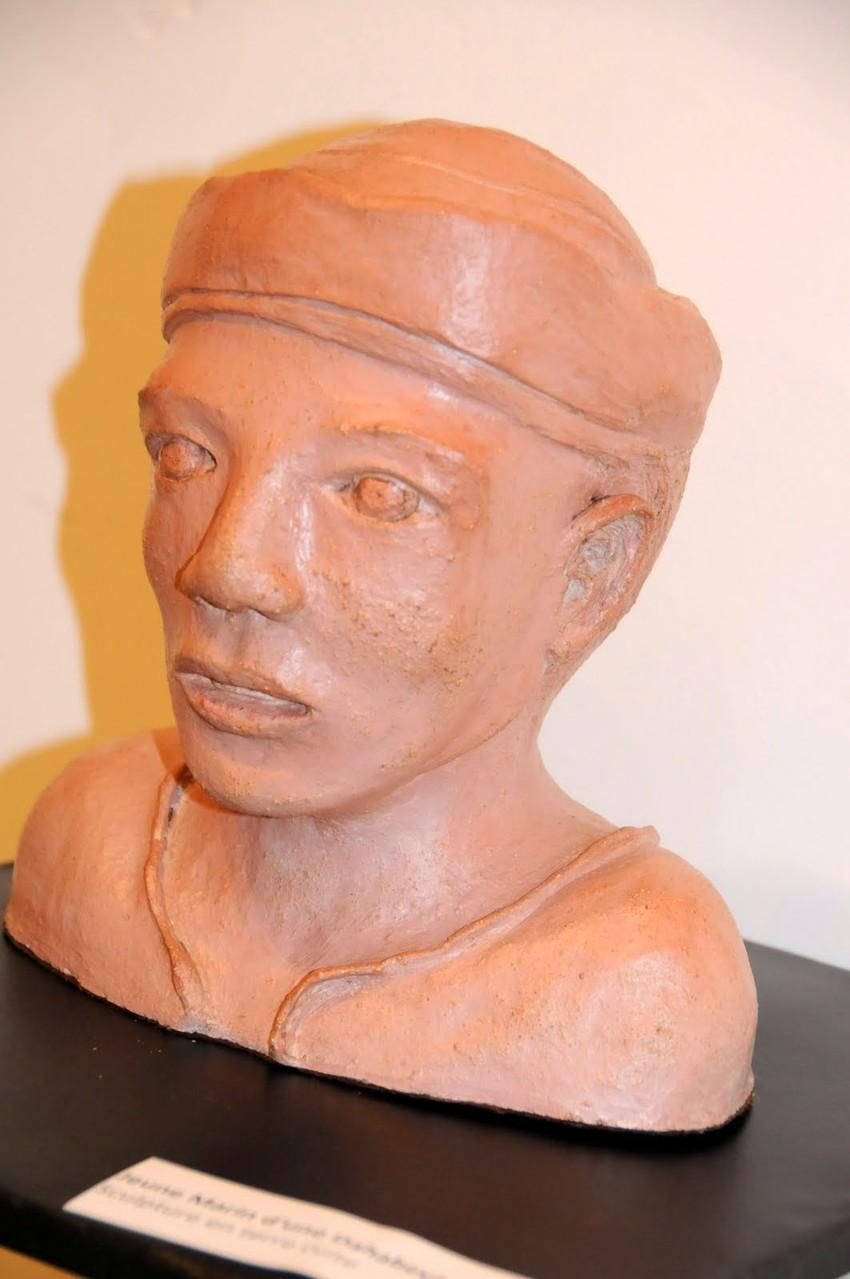 """sculpture """" Marin d'une dahabeya """""""