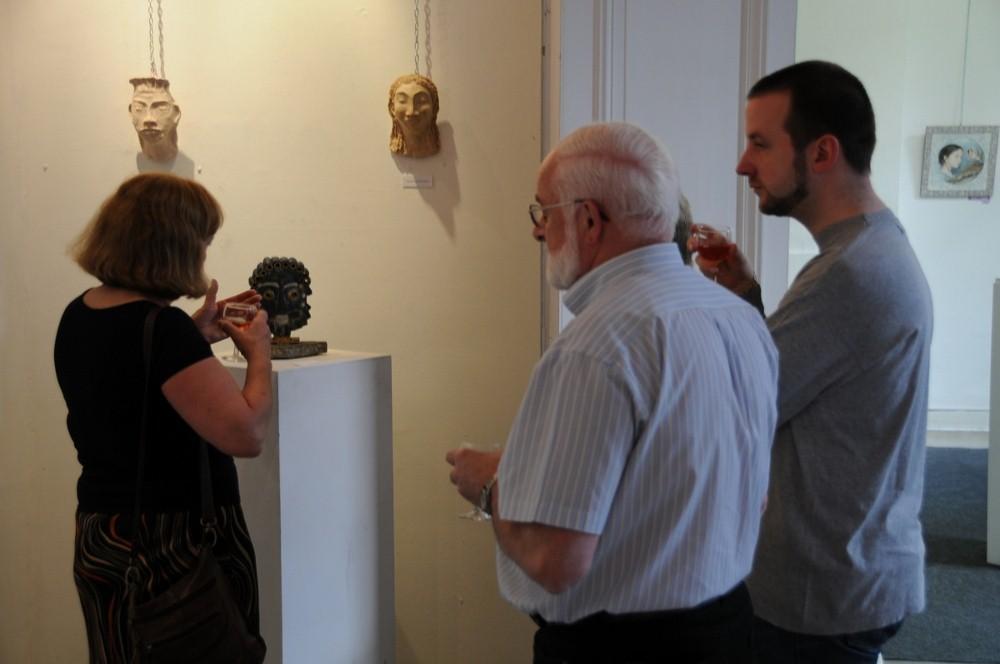 Vernissage exposition avec Danielle Bellefroid, Galerie Trigone, Liège 2010