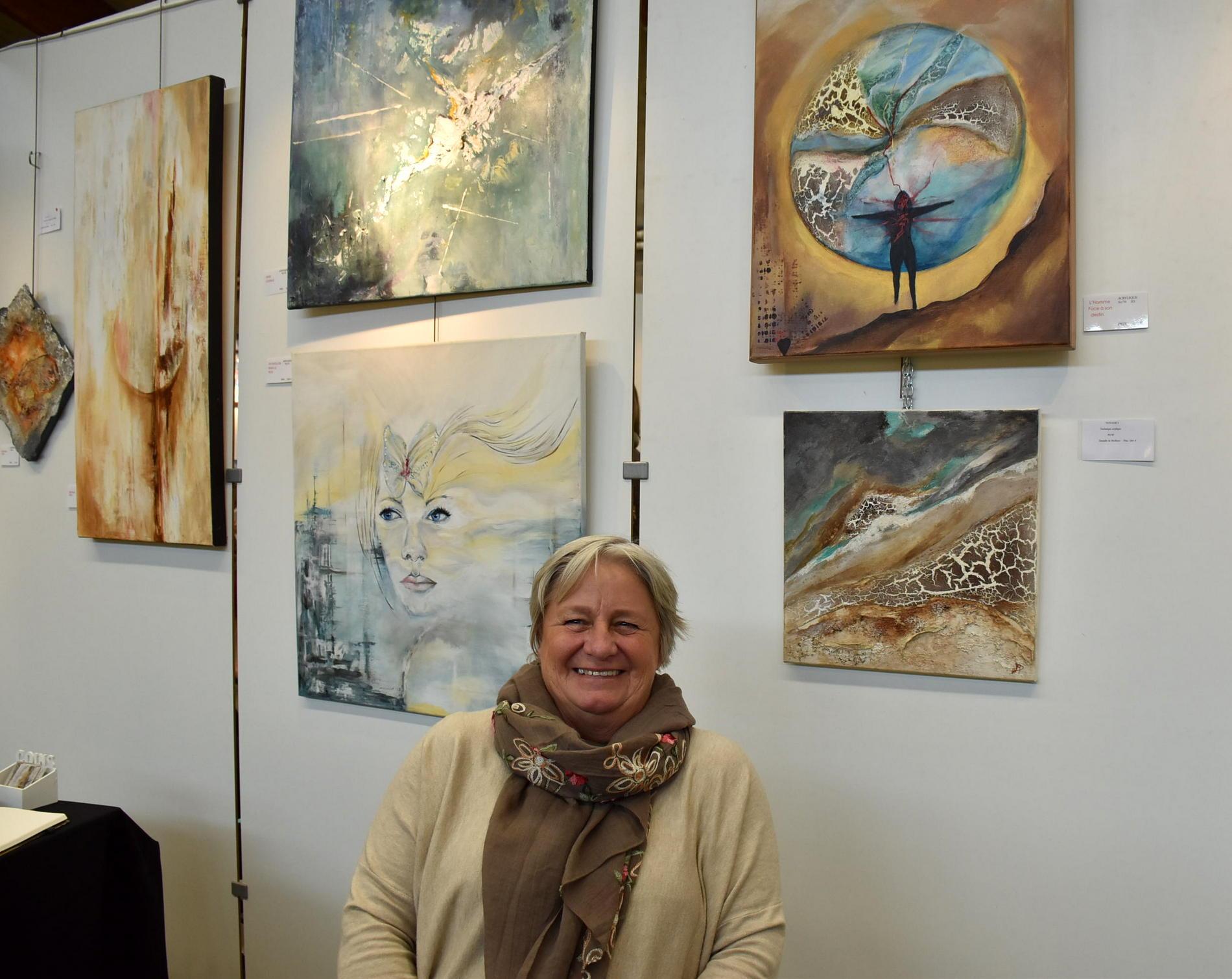 L'artiste Danielle De Moffarts