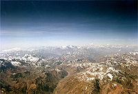 El hábitat natural de la chinchilla de cola corta: la cordillera de los Andes, aquí entre Chile y Argentina.