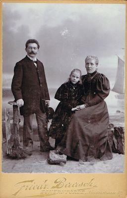 Familie Schweikert 1895 in Eckernförde, Badische Landesbibliothek