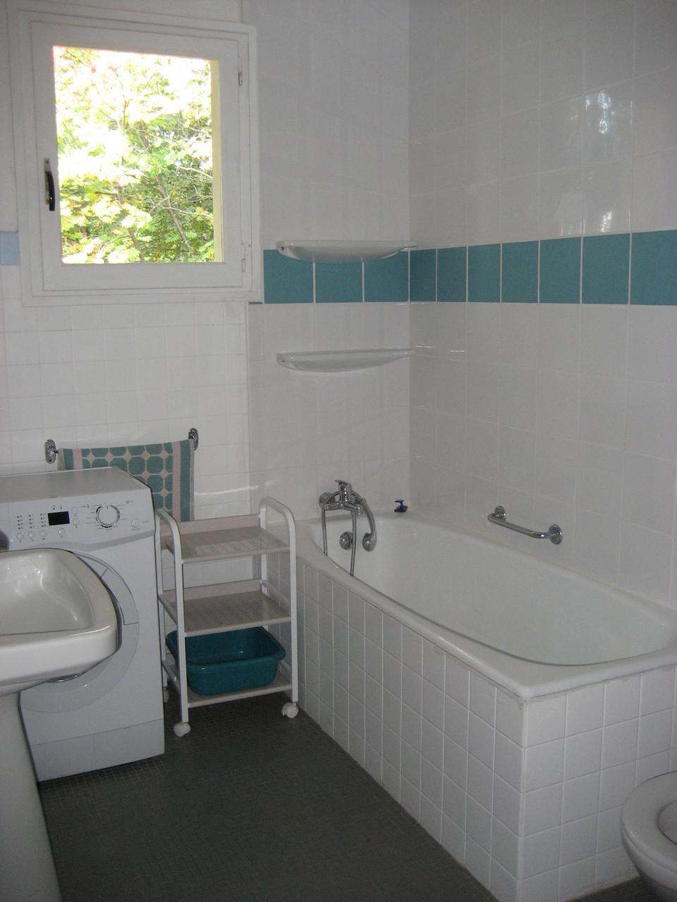 Salle de bain bleue [Chalet Aspones - Font-Romeu]