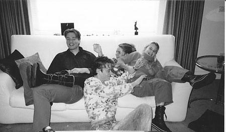 Ons gezin toen, ja het is wat veel maar zo ontzettend gezellig!