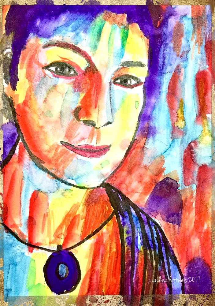 Abstraktes Selbstporträt