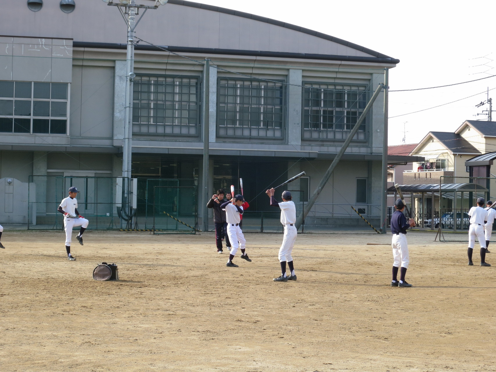 松山フェニックスさんOBによる野球教室