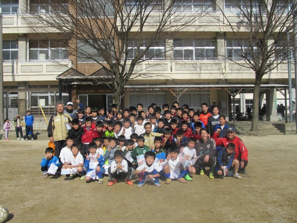 愛媛FCによるサッカー教室も、大人気です