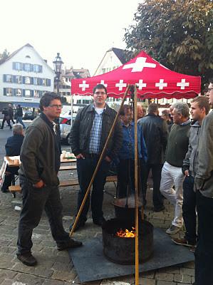 Raffi, Remo, Peter, Dani von der Jungen SVP