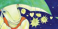 """Postkarte """"engel mit schirm"""" / Detail 1/kängorooh/ 2016"""