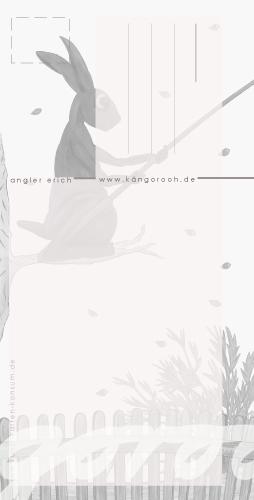 "Postkarte ""angler erich""/ rückseite / kängorooh / 2018"