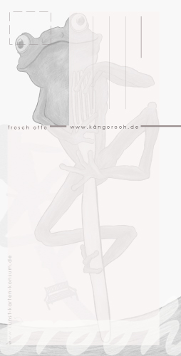 Postkarte Rückseite:  frosch otto / kängorooh / 2019