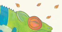 Postkarte Detail: schlafende Chamälia Chamälion / kängorooh / 2018