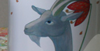 Tasse Detail 2: Ziege Emma / kängorooh /2018