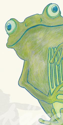 Postkarte Detail 1:  frosch otto / kängorooh / 2019
