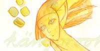 """Postkarte """"engel"""" / Detail 1 /kängorooh/ 2015"""