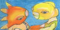 """Postkarte """"paar"""" / Detail 1/kängorooh/ 2015"""