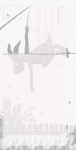 "Postkarte ""flieger  alfred""/rückseite/ kängorooh / 2018"
