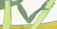 Postkarte Detail: Frosch Emil mit zwei Gabeln / kängorooh / 2019