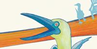 Postkarte Detail: der Klatsch und Tratsch der Blaufußtölpel  / kängorooh / 2019