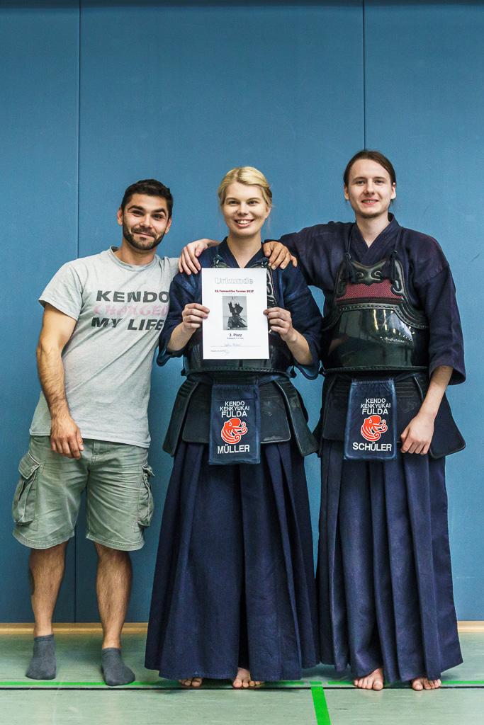 Yamashibu Turnier 2017  - Katrin Müller gewinnt den dritten Platz in der Kategorie 1. und 2. Dan, Glückwunsch!