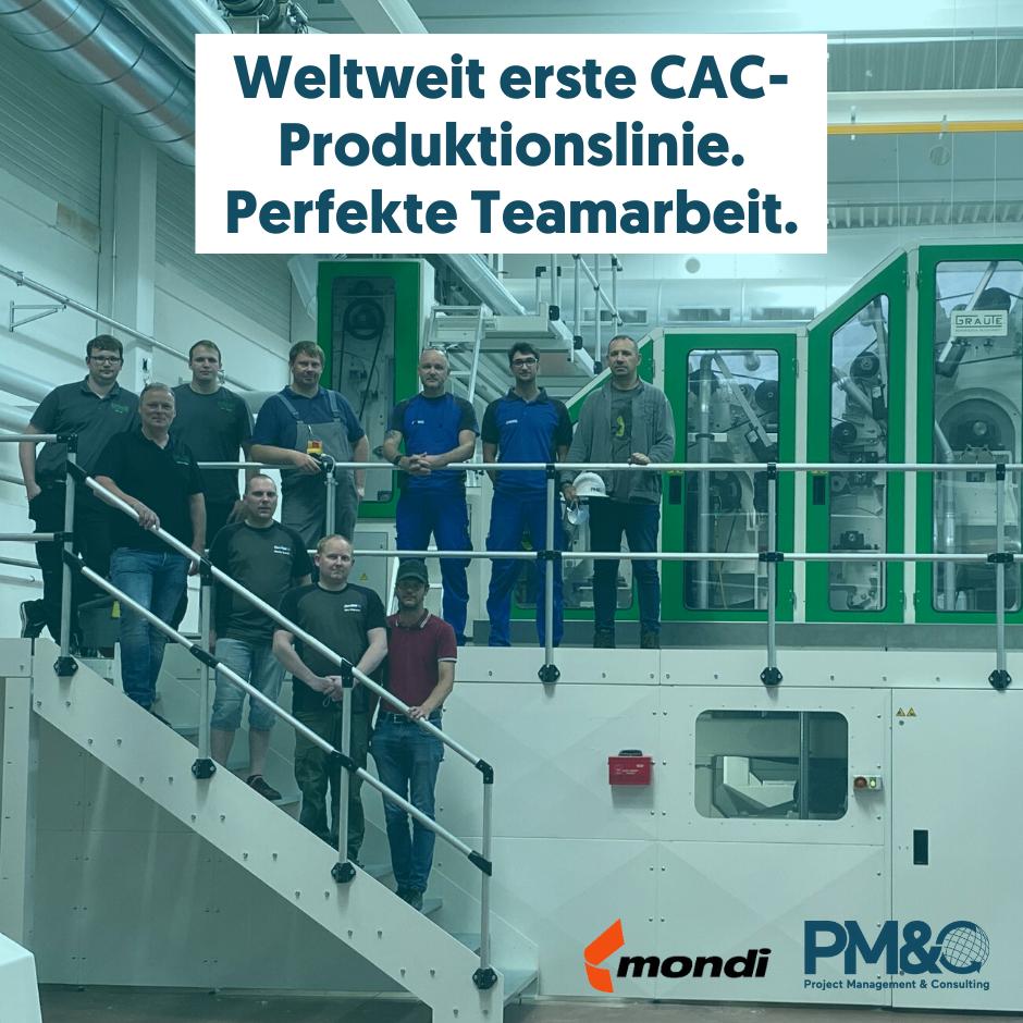 Die erste CAC-Produktionslinie der Welt - ein Beispiel für Projektteamarbeit auf Weltniveau